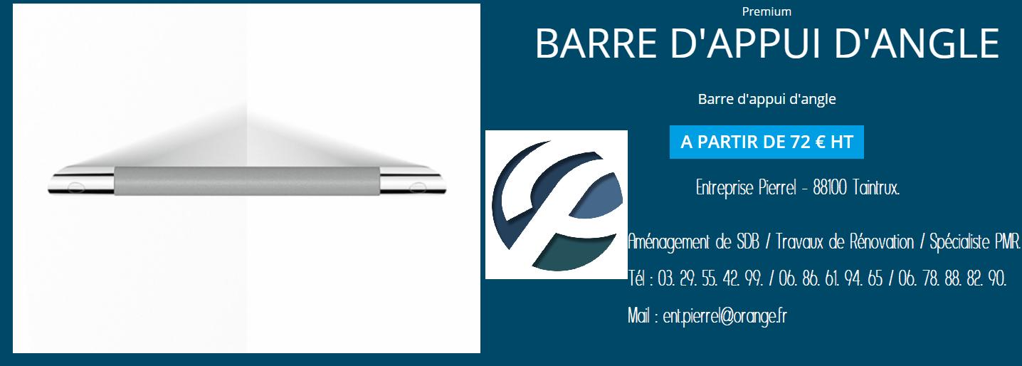 Barre d'Appui d'Angle. Entreprise Pierrel - 88100 Taintrux. Tél 03.29.55.42.99.