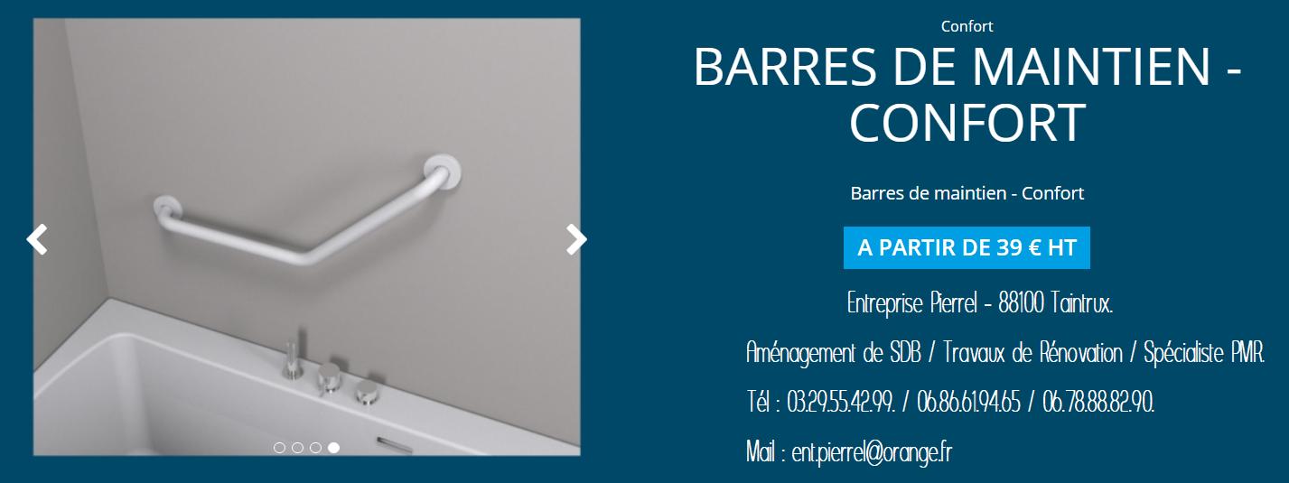 Barre de Maintien Confort - Entreprise Pierrel - 88100 Taintrux - Tél  03.29.55.42.99.