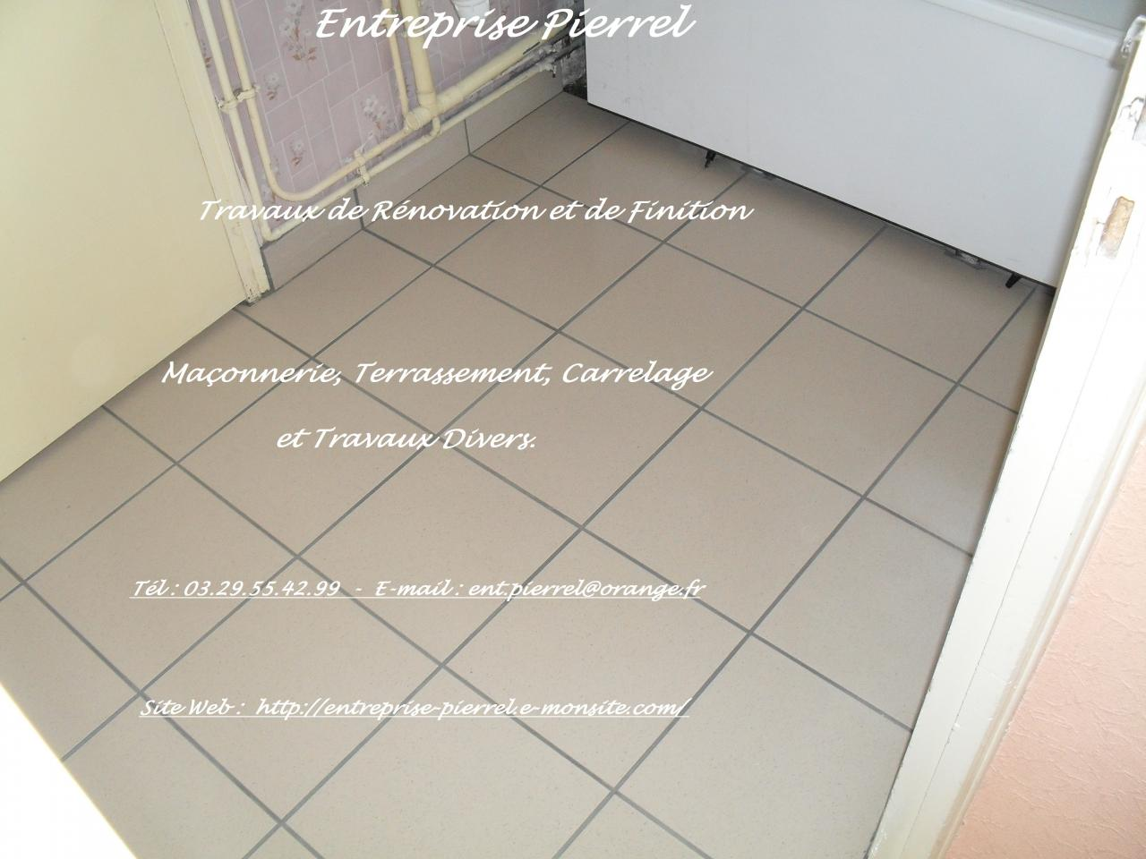 Carrelage au sol photos entreprise pierrel for Entreprise carrelage