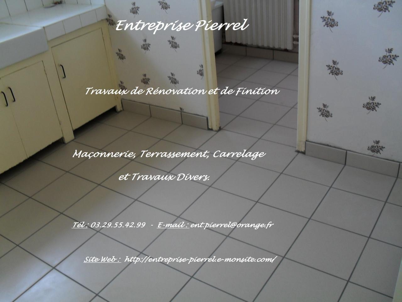 Carrelage au sol : Entreprise Pierrel - 88100 Taintrux. 03.29.55.42.99.