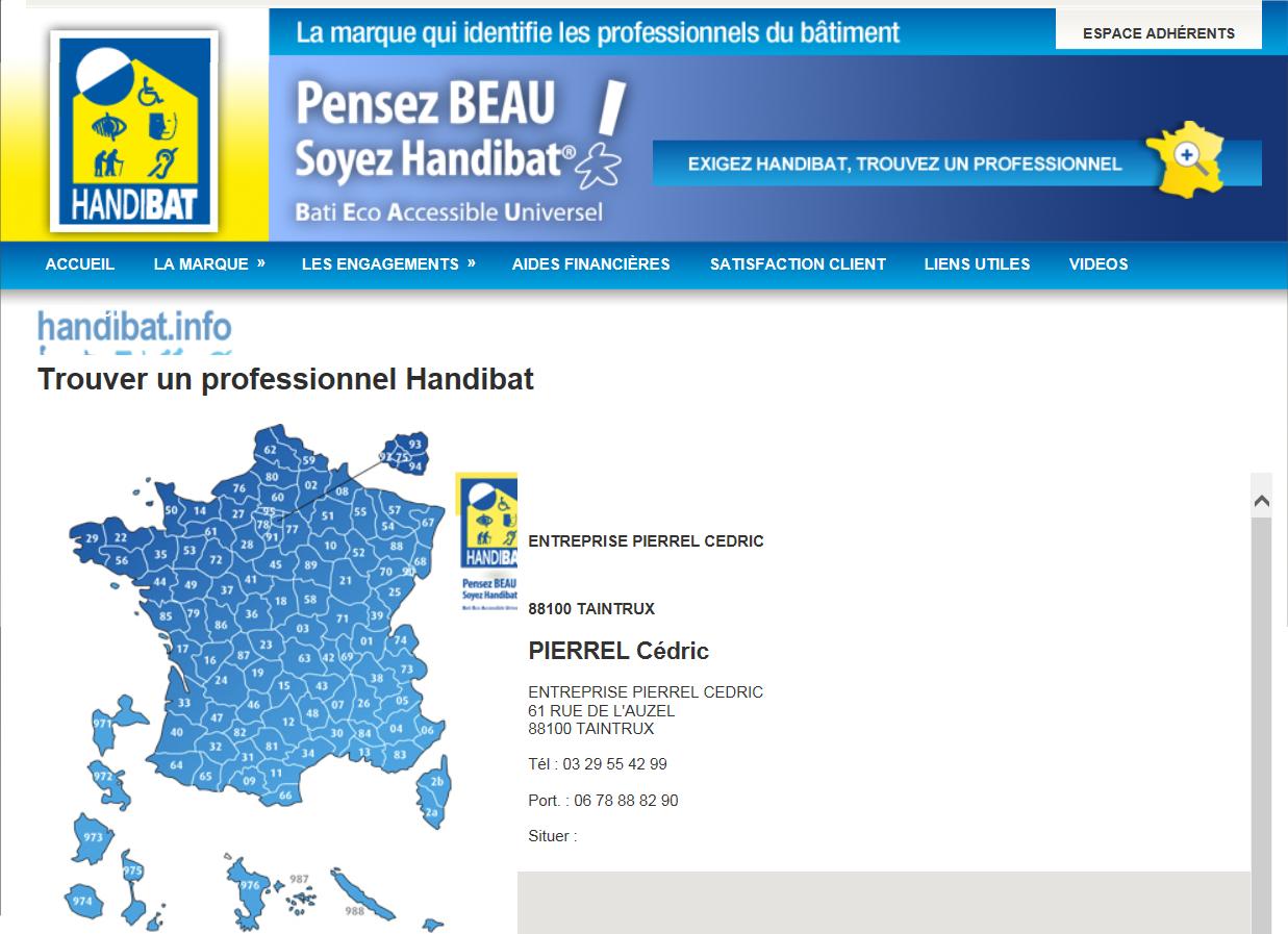 Professionnel Handibat dans les Vosges