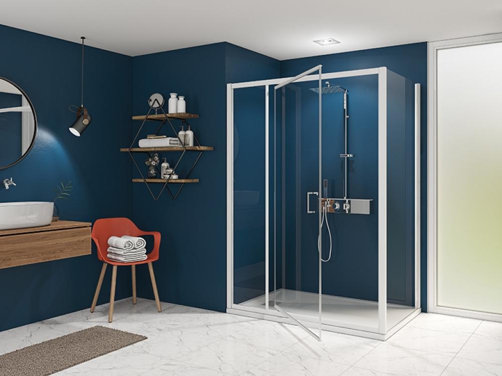Installation de paroi de douche - Entreprise Pierrel 88100 Taintrux (39)