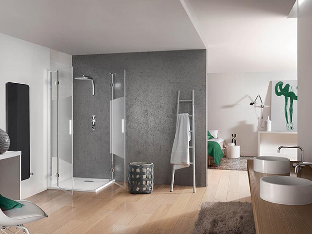 Installation de paroi de douche - Entreprise Pierrel 88100 Taintrux (42)