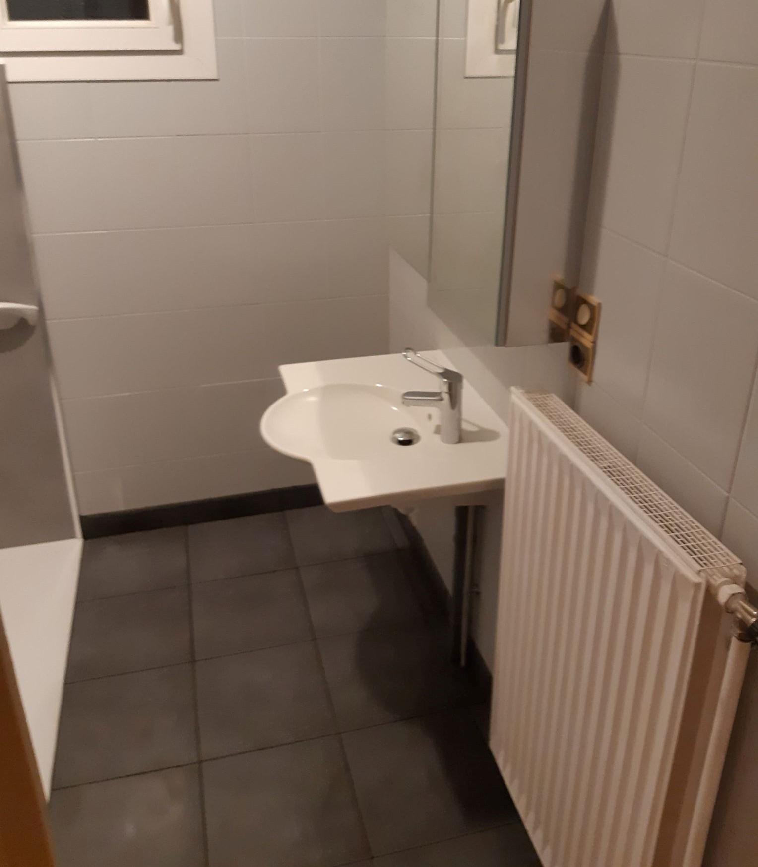 Installation lavabo PMR + Douche Entreprise Pierrel 88100 Taintrux.