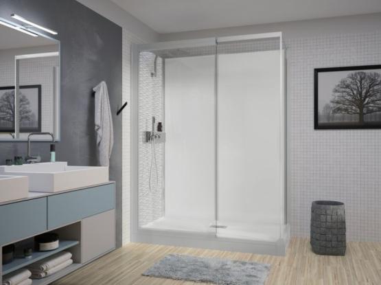 Cabine de douche adaptée pour les personnes à mobilités réduite & Séniors.