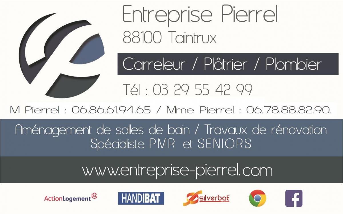 Entreprise Pierrel 88100 Taintrux Artisan Carreleur Plâtrier Plombier spécialiste de la salle de bain