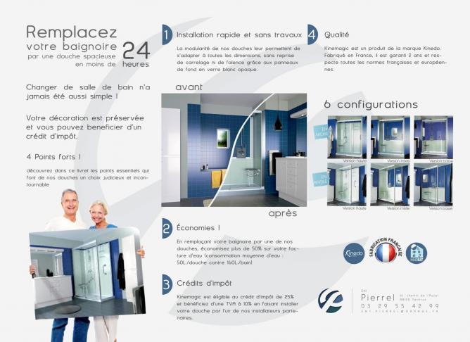 Entreprise Pierrel 88100 Taintrux - Artisan carreleur - Aménagement de salles de bain pour personnes à mobilité réduit.